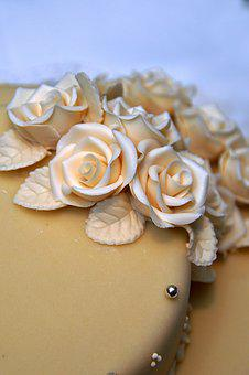 Cake, Wedding Cake, Marzipan, Marzipan Decoration