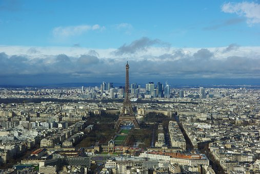 Paris, City, Landscape, Metropolis, Light, Modern Art