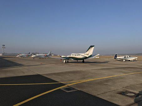 Airport, Hanover, Private Airplane, Jet, Mooney