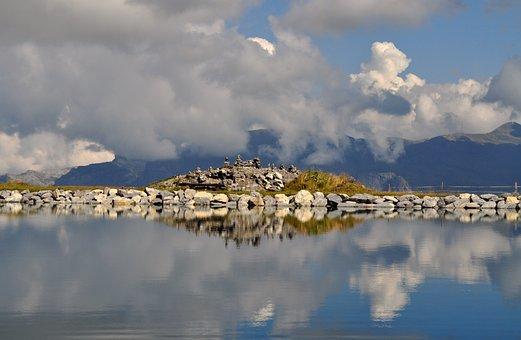 Mountain Lake, Eiger, A Virgin Monk, View, Alpine