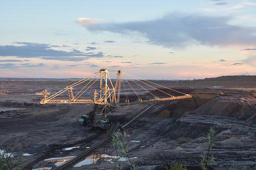 Brown Coal, Open Pit Mining, Raw Material Extraction