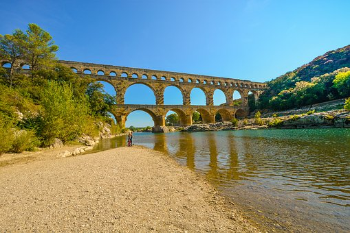 Pont Du Gard, Bridge, Roman, Provence, France, Aqueduct