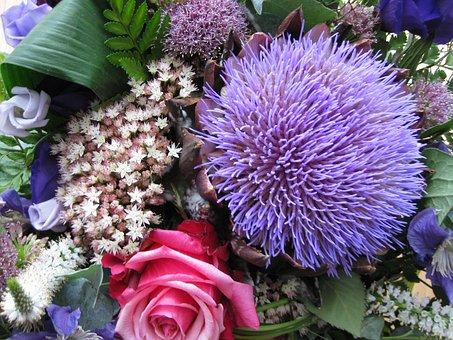 Purple, Bouquet, Violet, Flowers, Strauss, Colorful