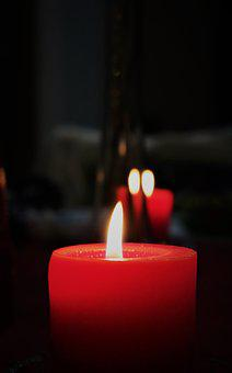 Fire, Flame, Candle, Red, Wax, Darkness, Turn On, Heat