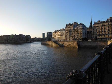Paris, River, City, France, Boat, Rivers, Seine