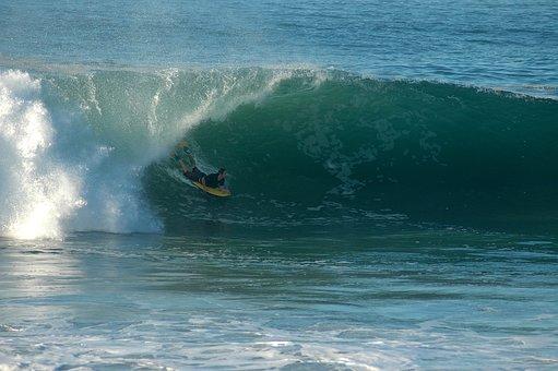 Boogie Board, Surfing, Wave, Beach, Ocean, Surf