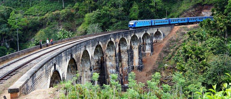 Train, 9 Arch Bridge, Ella, Railway, Sri Lanka