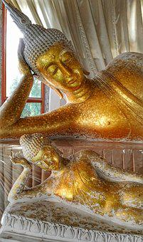 Reclining Buddha, Korat, Thailand, Travel, Temple