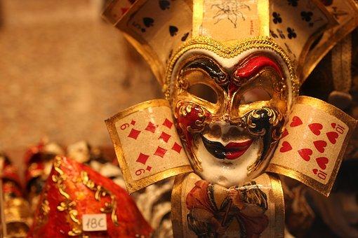 Venice, Carnival, Costume, Mask, Italy, Panel