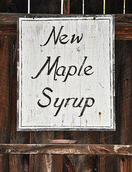 Maple Syrup, Maple, Vintage Sign, Sign, Rustic, Country