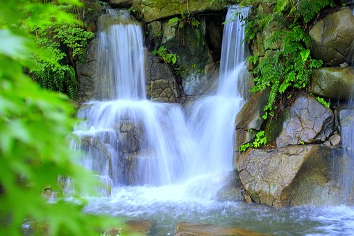 Waterfall, Japan, Water, Natural, River, Landscape