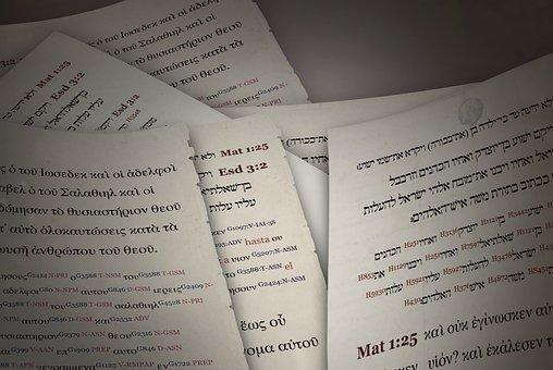 Ancient Manuscripts, Greek, Hebrew, Bible, Translations