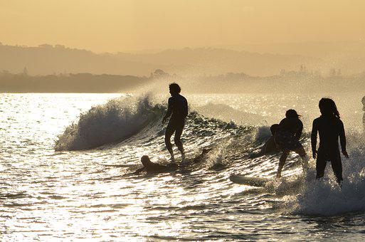 Byron Bay, Beach, New South Wales, Surfing, Sunset