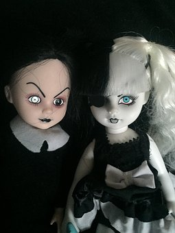 Scary Dolls, Sisters, Horror, Macabre, Black Horror