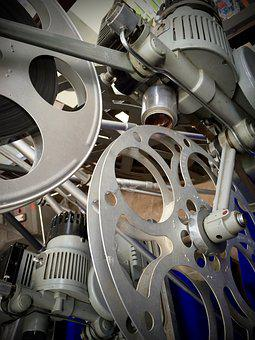 Cine Projector, Cinema Reels, Antique