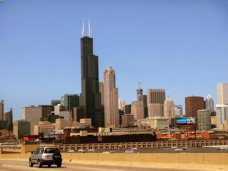 City, Chicago, Downtown, Architecture, Illinois