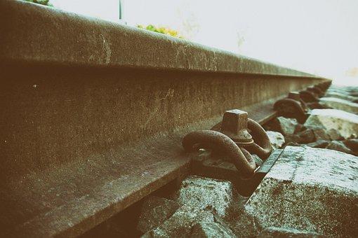 Rail, Railroad Track, Track, Train, Close, Threshold
