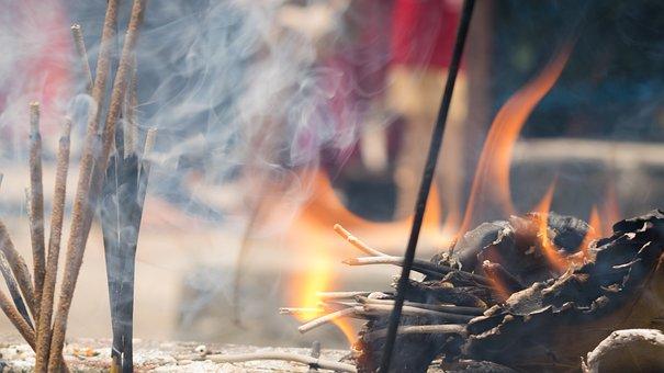 Faith, Fire, Incense, Pray, Religion, Flame, Light