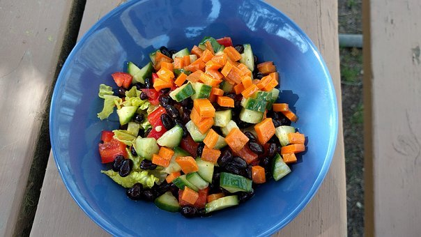 Picnic, Mason, Jar, Salad, Whole, Food, Health, Carrot