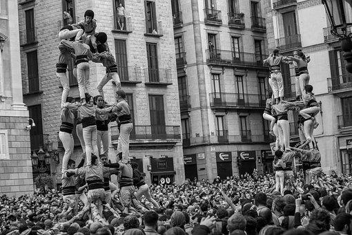 Castellets, Barcelona, Spain, Plaza España, Holiday