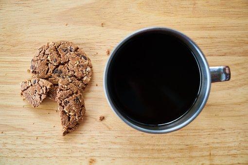 Coffee, Hot, Cookies, Sweet, Snack, Food Photo
