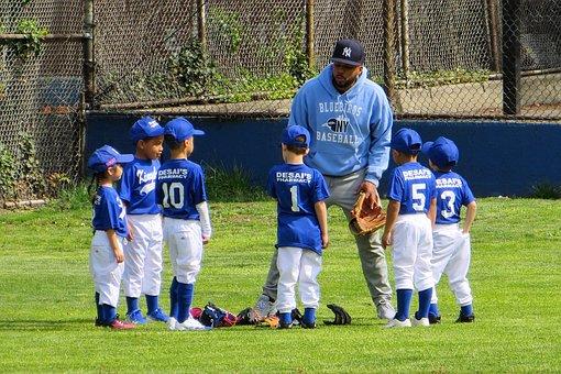 Team, Little League, Baseball, Child, Practice, Glove