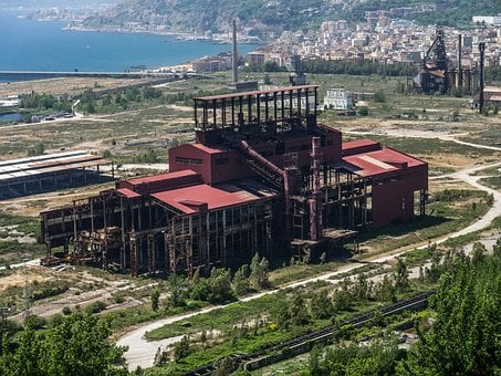 Lost Place, Steel Mill, Naples, Industry, Factory