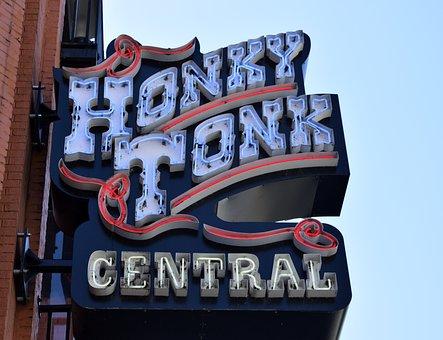 Sign, Neon Light, Bar, Tavern, Advertisement, Nashville