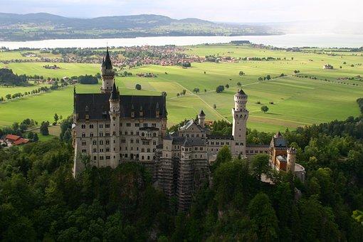 Neuschwanstein, Castle, Bavaria, Tower, Architecture