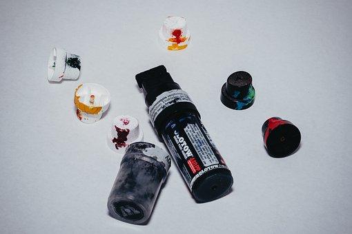 Pen, Edding, Black, Felt-tip Pen, Caps, Spray Heads