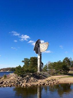 Kristinehamn, Picasso Sculpture, Sweden, Nature