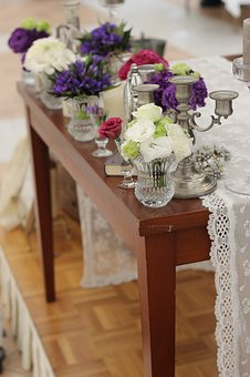 Flowers, The Main Table, Purple