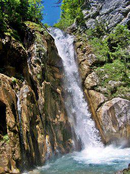 Natural Spectacle, Waterfall, Rapids, Basin, Karawanken