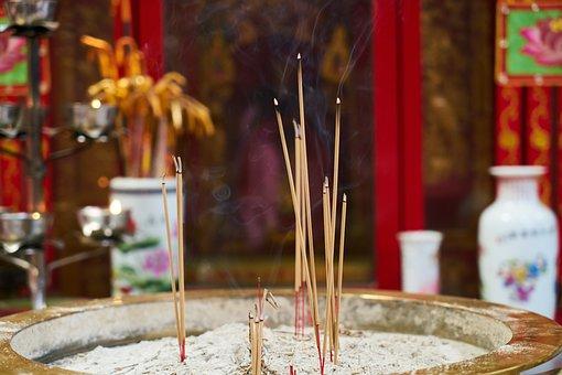 Incense, Smoke, Religion, Worship, Prayer, Buddhism