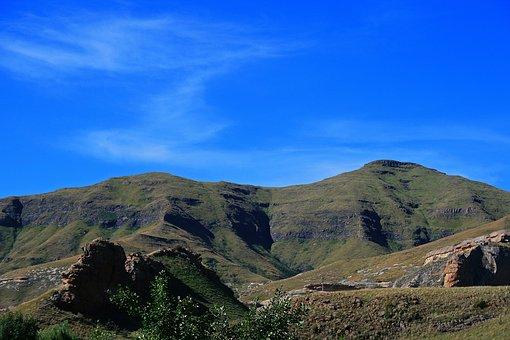 Mountain With Saddle Back Shape, Mountains, Rugged