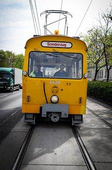 Train, Tram, Special Crossing, Transport, Rail Traffic