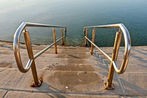 Stairs, Steps, Pool, Stairway, Poolside, Swim