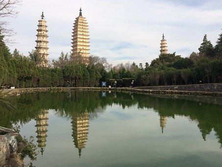 In Yunnan Province, Three Pagodas, Views
