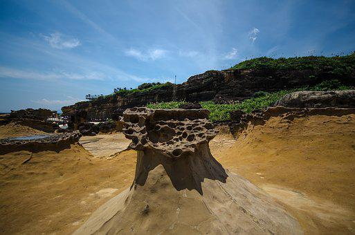 Yehliu Geopark, Natural Rocks, Taiwan