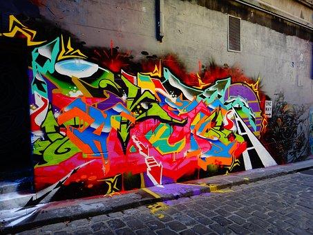 Hosierlane, Graffiti, Street Art, Facade, Art, Mural