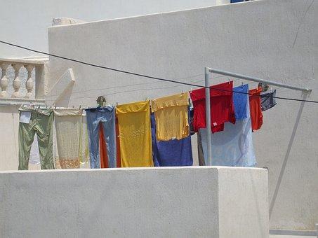 Cloths, Roll Out, Sun, Dry, Balcony