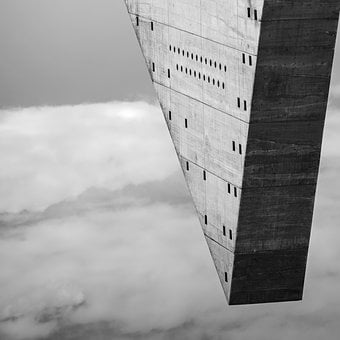 Black And White, Architecture, Sculpture, Building