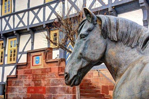 Horse, Bronze, Sculpture, Metal, Animal, Ross