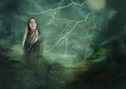 Tags Goddess, Composite, Lightening, By Comma