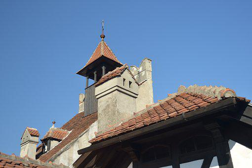 Romania, Bran Castle, Castle, Roofs, Tower, Texas