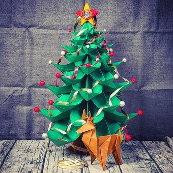 Christmas, Christmas Tree, Paper 藝, Paper Folding