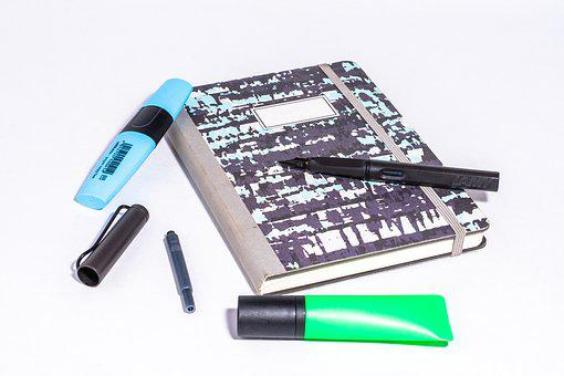Notebook, Pen, Filler, Leave, Book, Notes, Enter, Diary