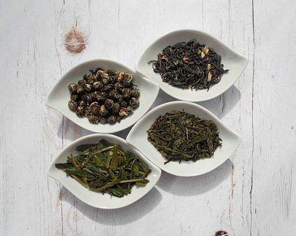 Tea Leaves, Tea, Green Tea, Dried Leaves, Dried Plant