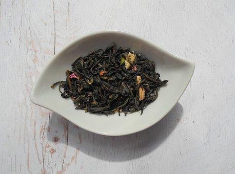 Tea Leaves, Green Tea, Tea, Dried Leaves, Dried, Food
