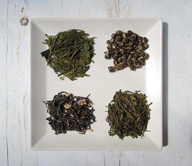 Tea Leaves, Tea, Green Tea, Dried Leaves, Food